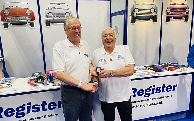 Jim receives the Gold Award from TR Register Chairman Allan Westbury