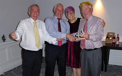 Roger Anderson receives his well earned 'Wally of the Year Award'