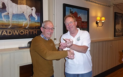 Kennet Valley's Ian Howett with the honour of being the day's lowest scorer.