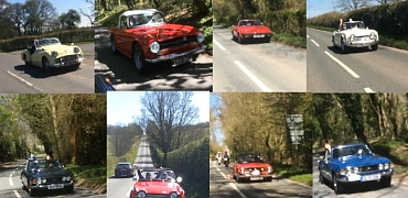 Kennet Valley Group Drive it Day - at last the roar of KVG TR's on the road again!