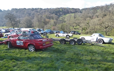 Larry Jeram-Croft arrived with his mighty TR7V8 along with Nick Smith from Salisbury.