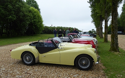 A nice line up of TRs plus big Healey
