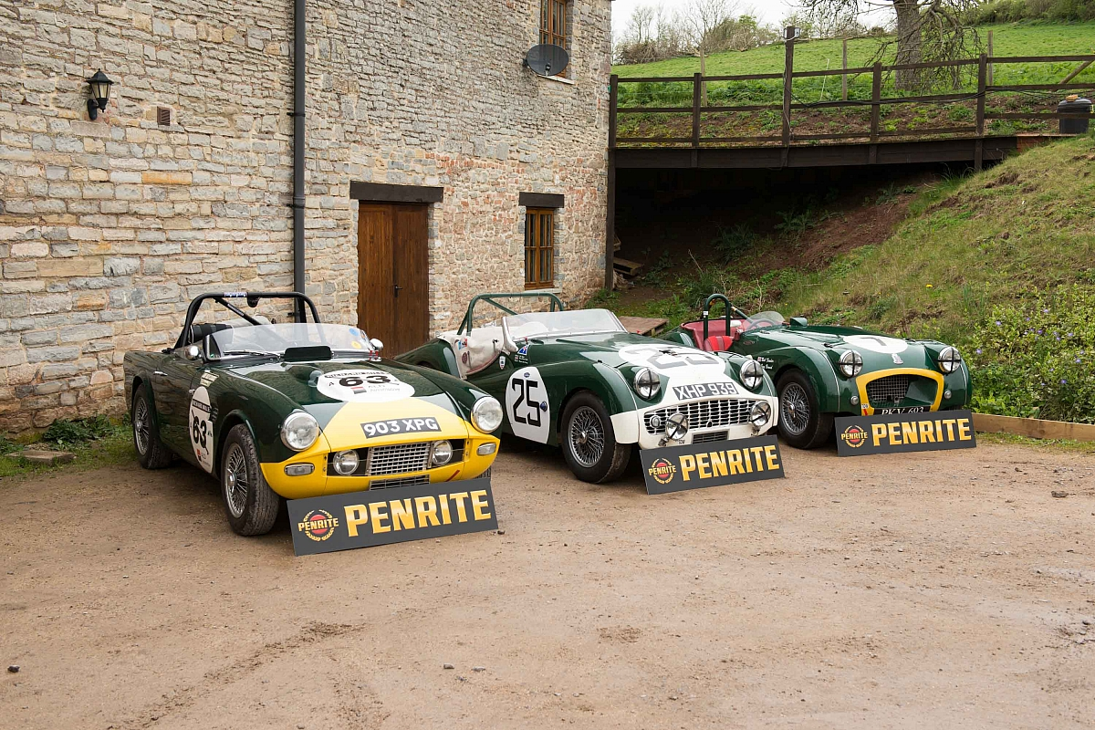 Penrite Oils backing a trio of Triumph TR's at Le Mans Classic 2014