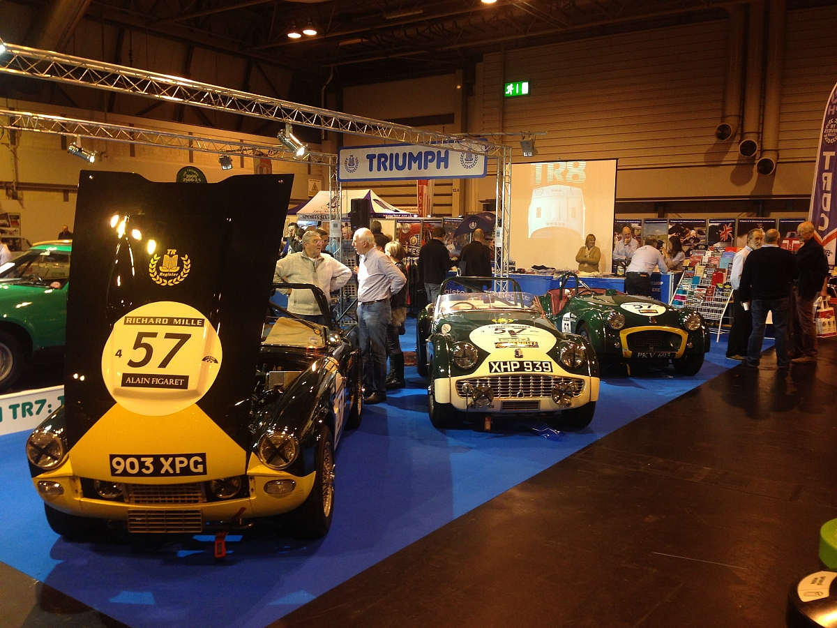 Triumphant Le Mans Team on display at NEC Classic Motorshow 2014