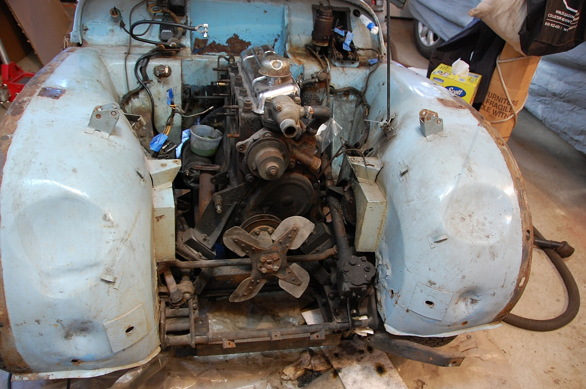 1960 TR3A Restoration - The list of body repairs