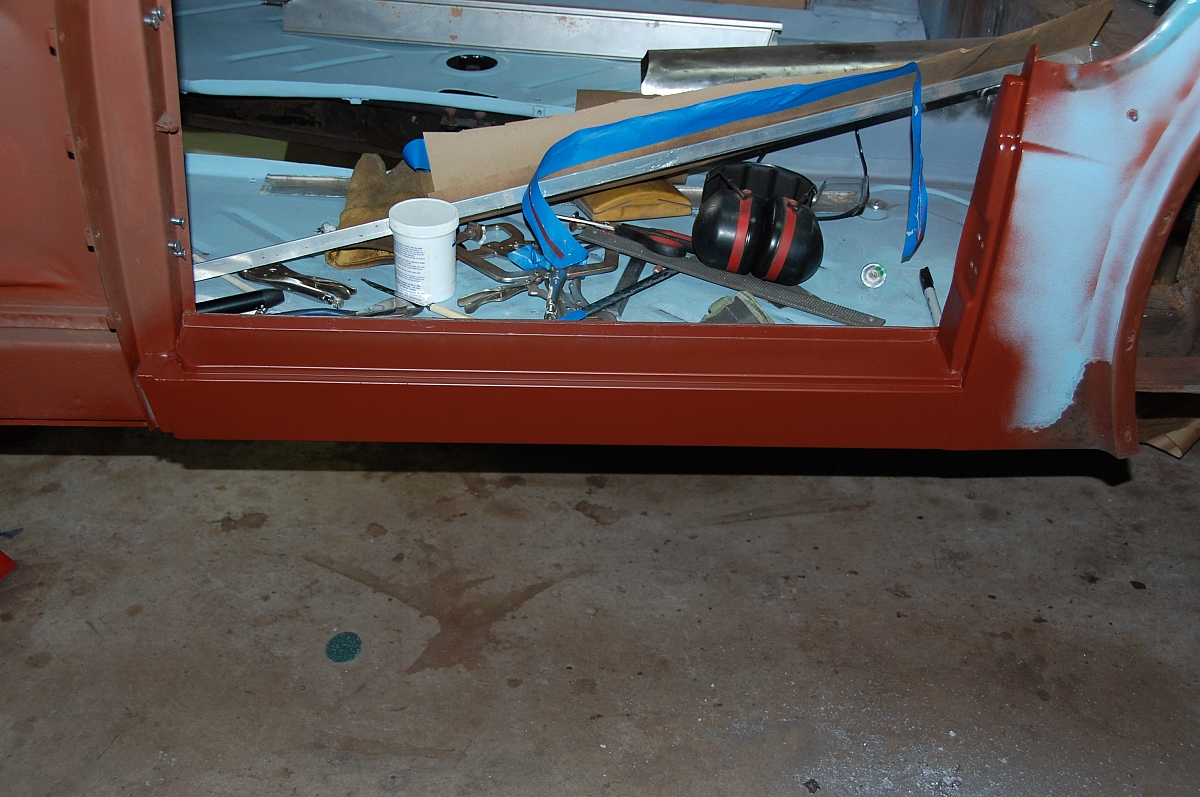 1960 TR3A Restoration - Outer sill replacement