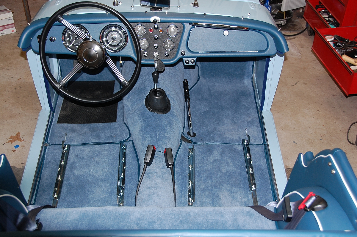 1960 TR3A Restoration - Installing modern seatbelts