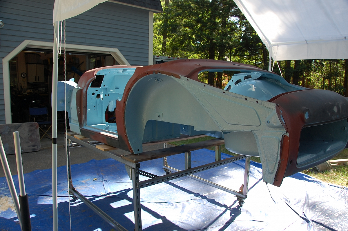 1960 TR3A Restoration - The Dreaded Rear End
