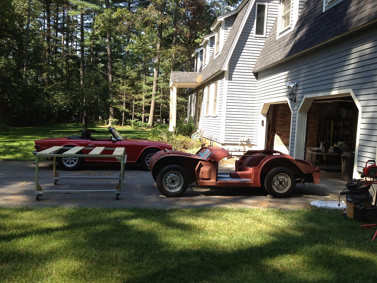 1960 TR3A Restoration - Sept 12 2012 Body Off Day