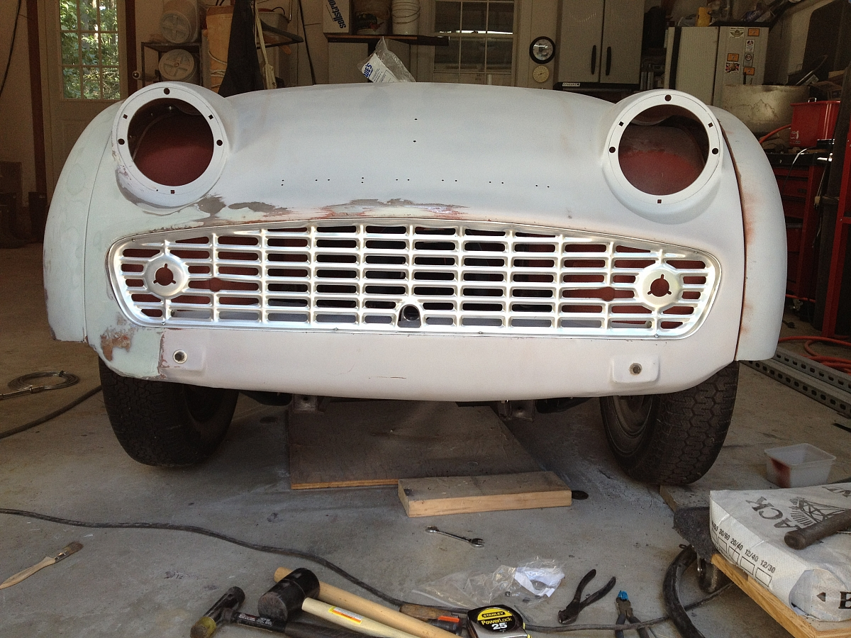 1960 TR3A Restoration - Front apron and other front end repairs