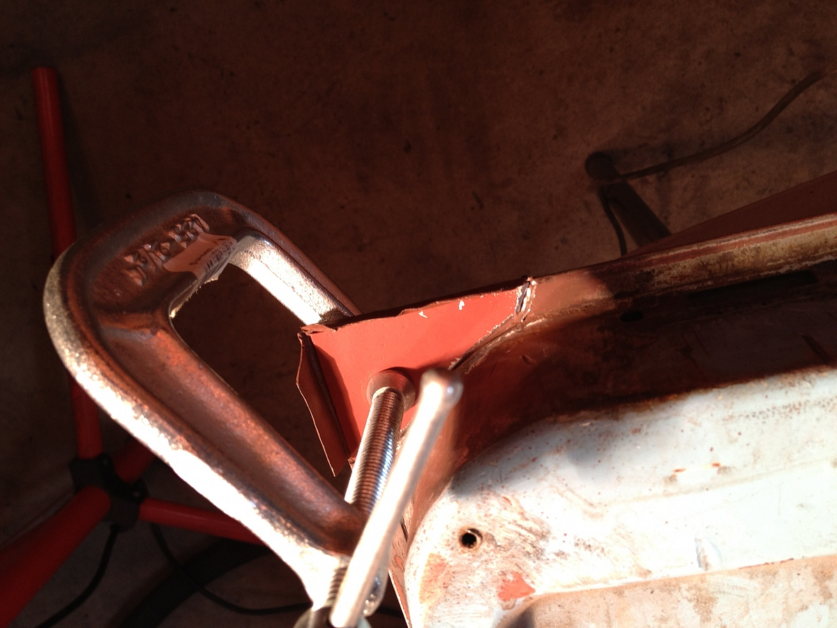 1960 TR3A Restoration - Door repair