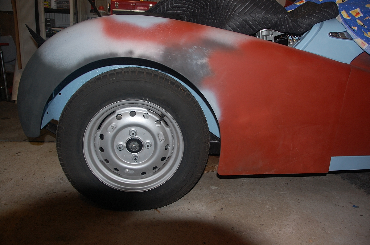 1960 TR3A Restoration - Front left wing repair