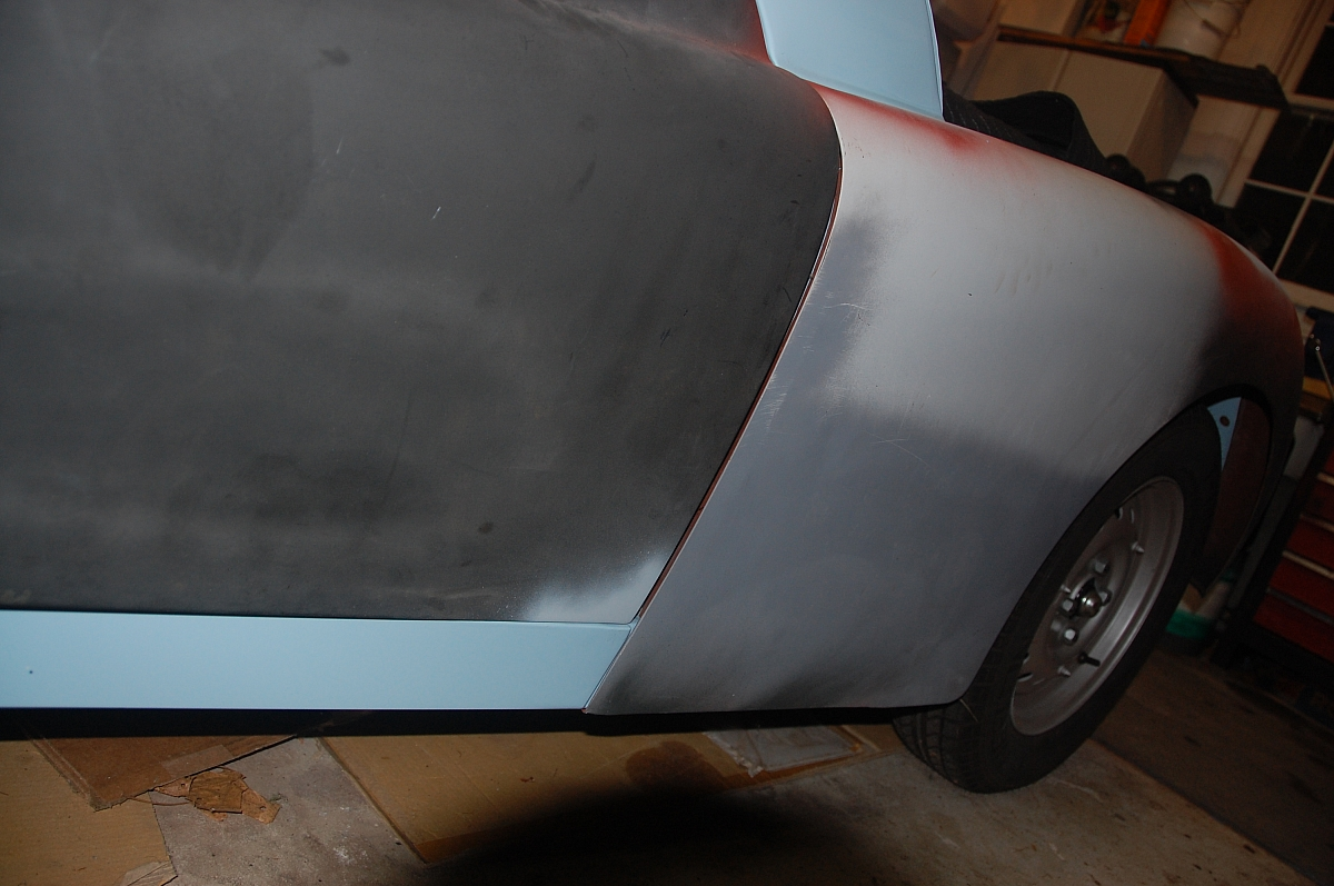 1960 TR3A Restoration - Front right wing repair
