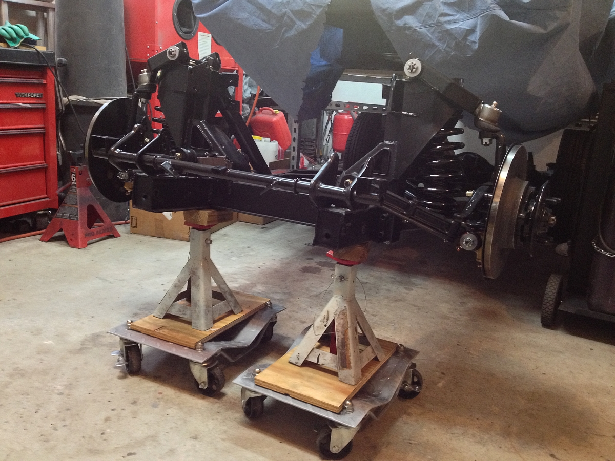 1960 TR3A Restoration - Re-assembling the front suspension and brakes