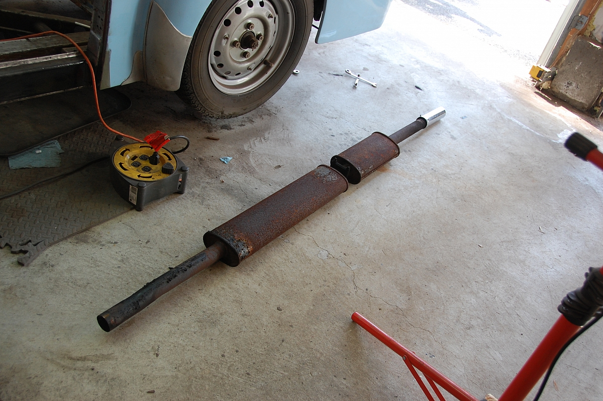 1960 TR3A Restoration - Exhaust system and fuel line