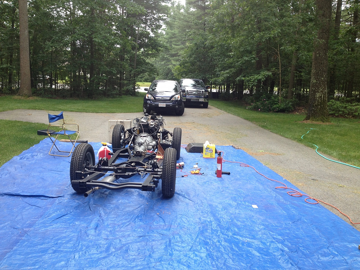 1960 TR3a Restoration - Re-installing and running the engine