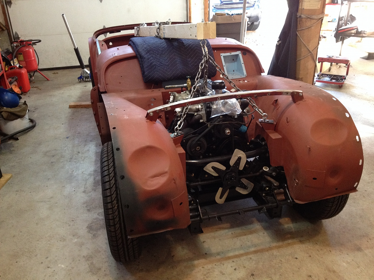 1960 TR3a Restoration - Re-installing the tub for final fettling