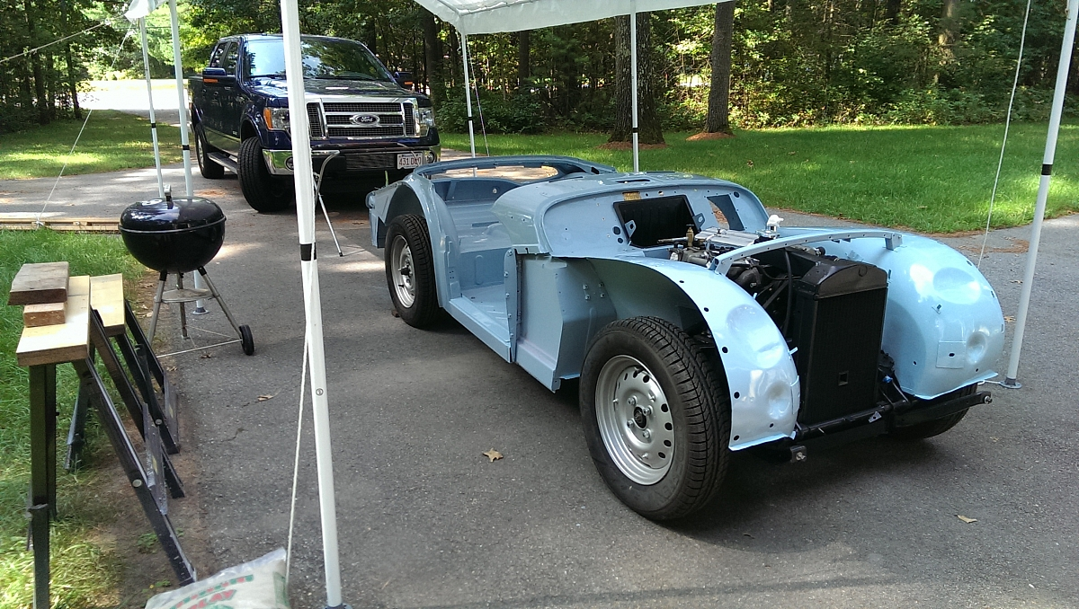 1960 TR3a Restoration - Painting the tub - phase 2