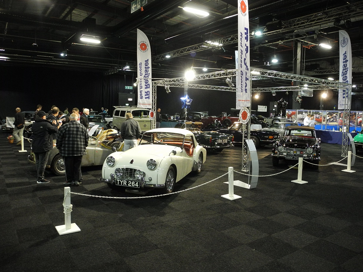 TRs at the Manchester Classic Car Show