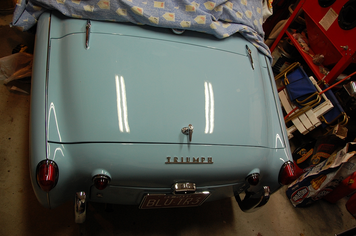 1960 TR3a Restoration - The boot lid