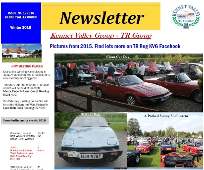 Kennet Valley TR Group Newsletter 2016