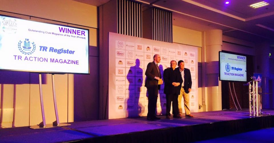 TR Register wins 'Outstanding Club Magazine of the Year' at the National Car Club Awards 2016.