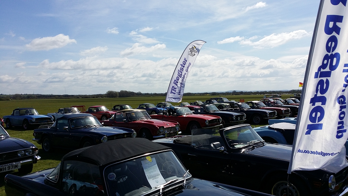 DRIVE IT DAY - Bicester Scramble enjoyed by 47 TR Register Cars plus 4 TR's tour into Wiltshire