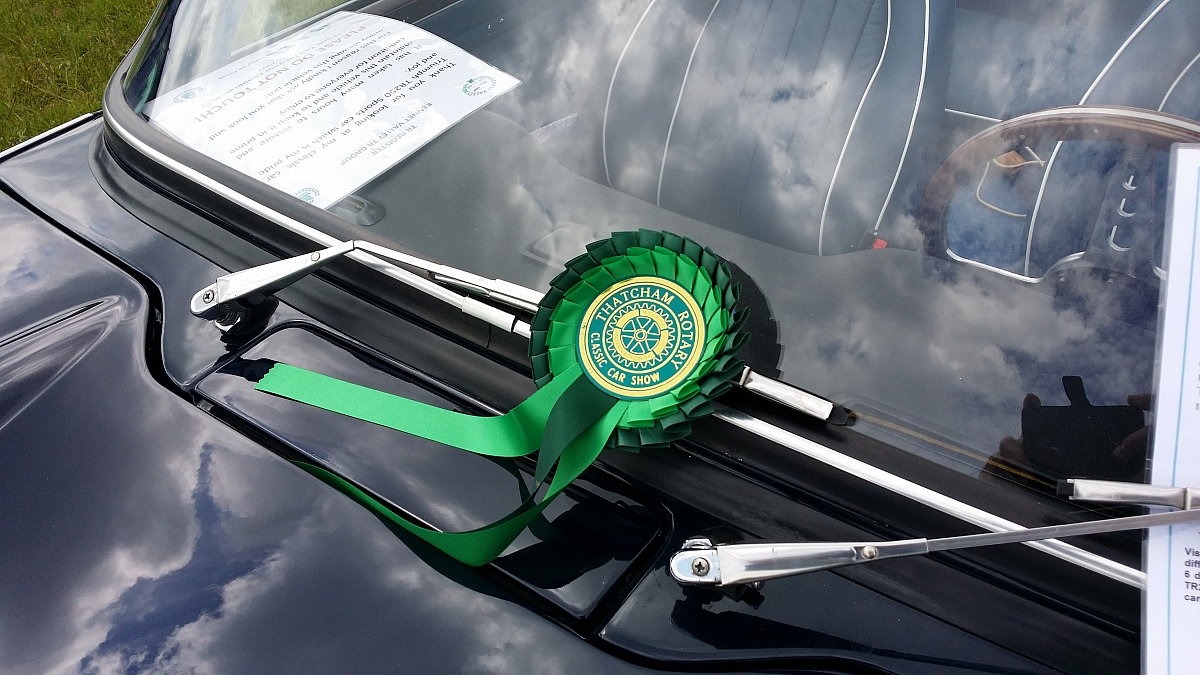 Prize won despite low turnout due to weather at Thatcham Rotary Classic car show & fun day