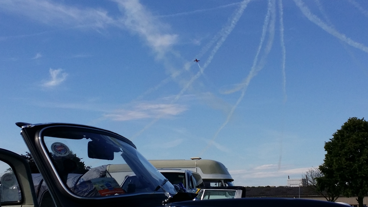 Kennet Valley TR Group enjoy TR Register International Weekend & a prize winning TR, even the Red Arrows joined in!