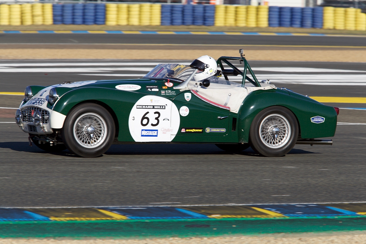 Success at Le Mans Classic 2016 for Millers Oils sponsored Triumph TR3S.