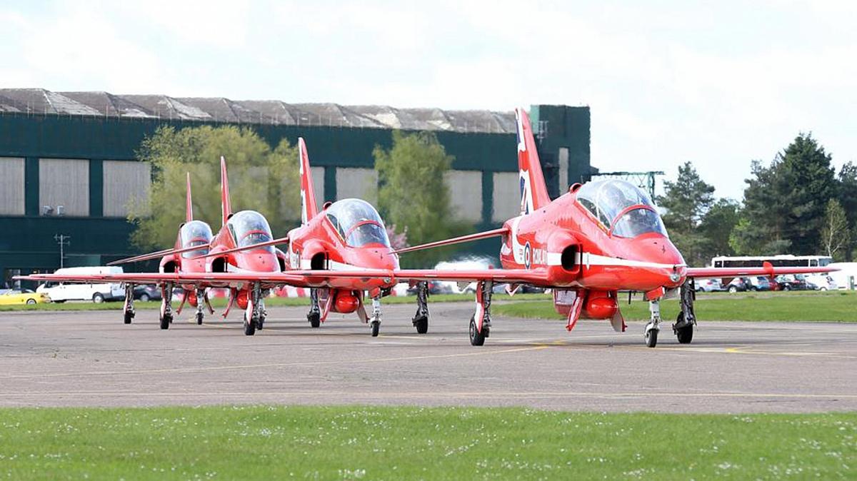 TR Lincs -  Visit to RAF Scampton
