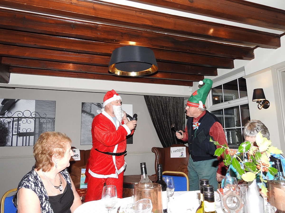 Leicestershire TR Group celebrate their Un-Christmas dinner