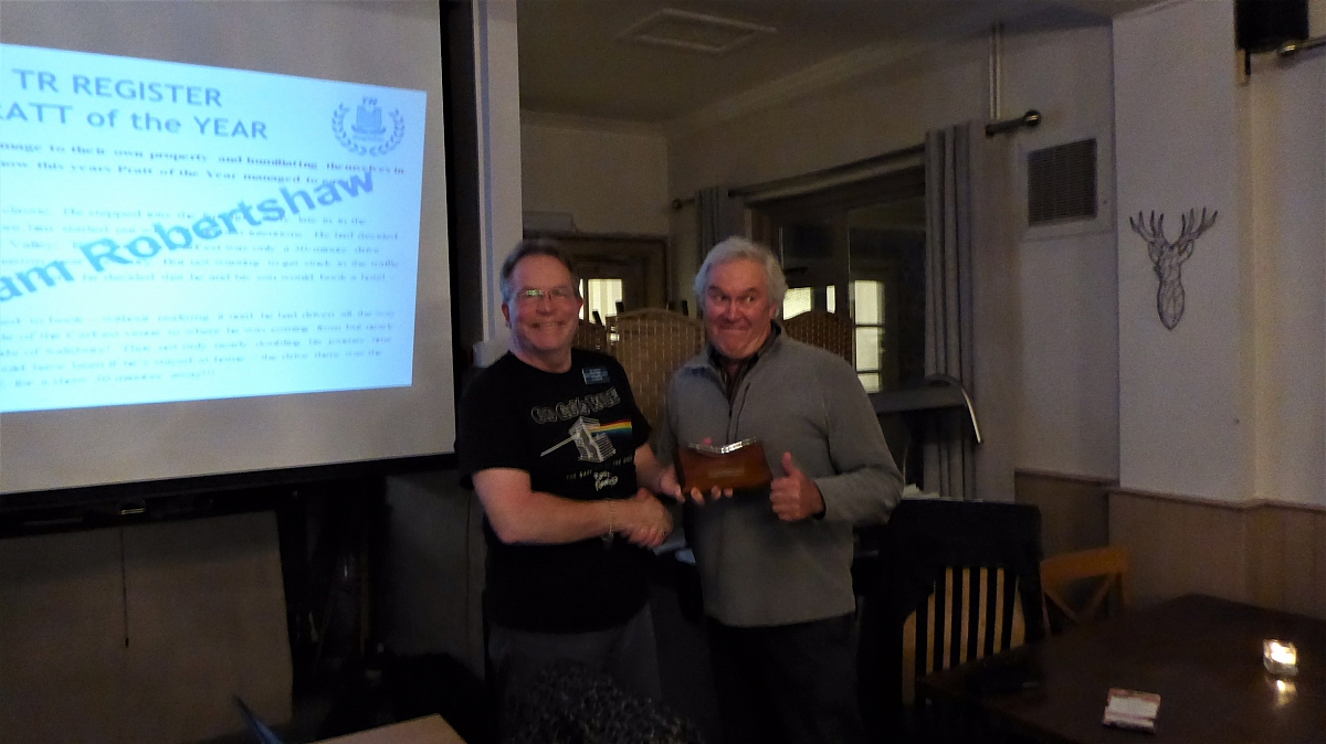 Kennet Valley TR Member wins the coveted 'Pratt of the Year' award and more!