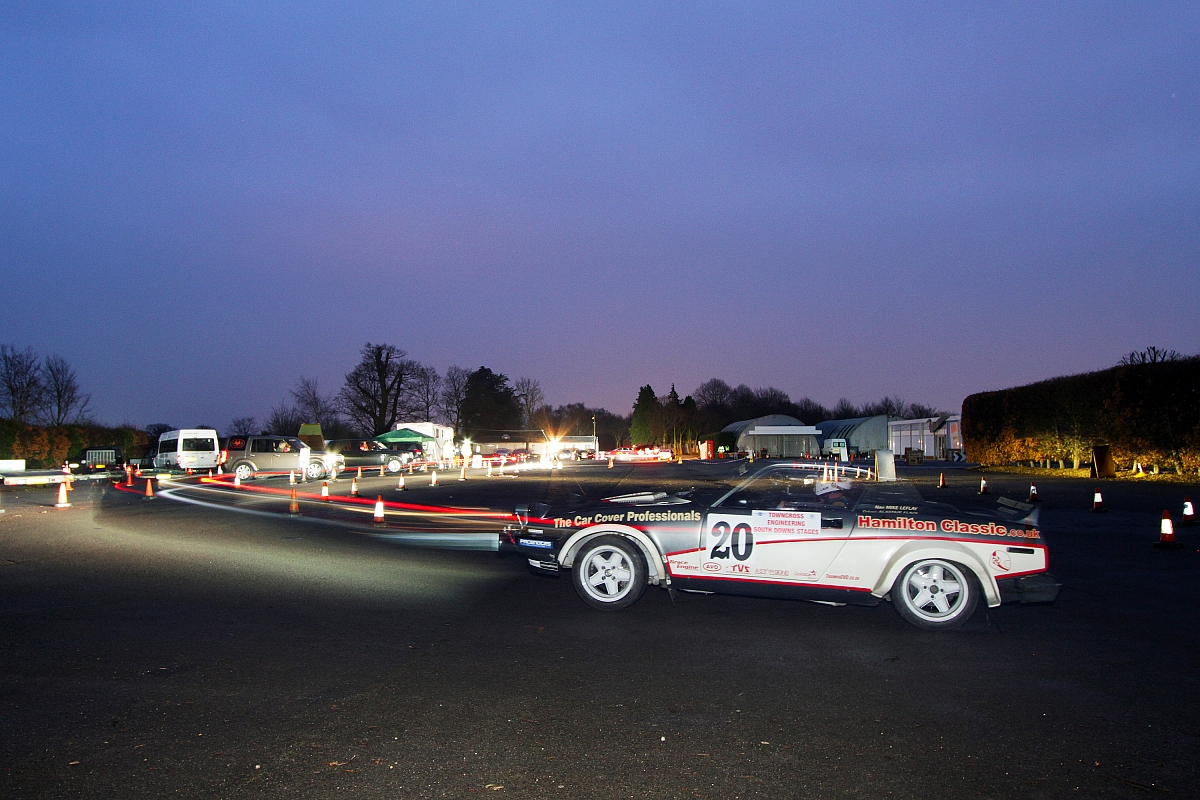 Triumph TR7 V8 braves the chill on the South Downs Stages Rally ...