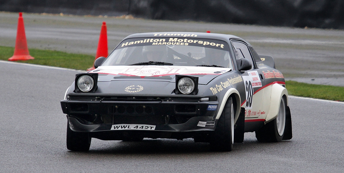 TR7 V8 braves the chill on the South Downs Stages Rally, Goodwood.