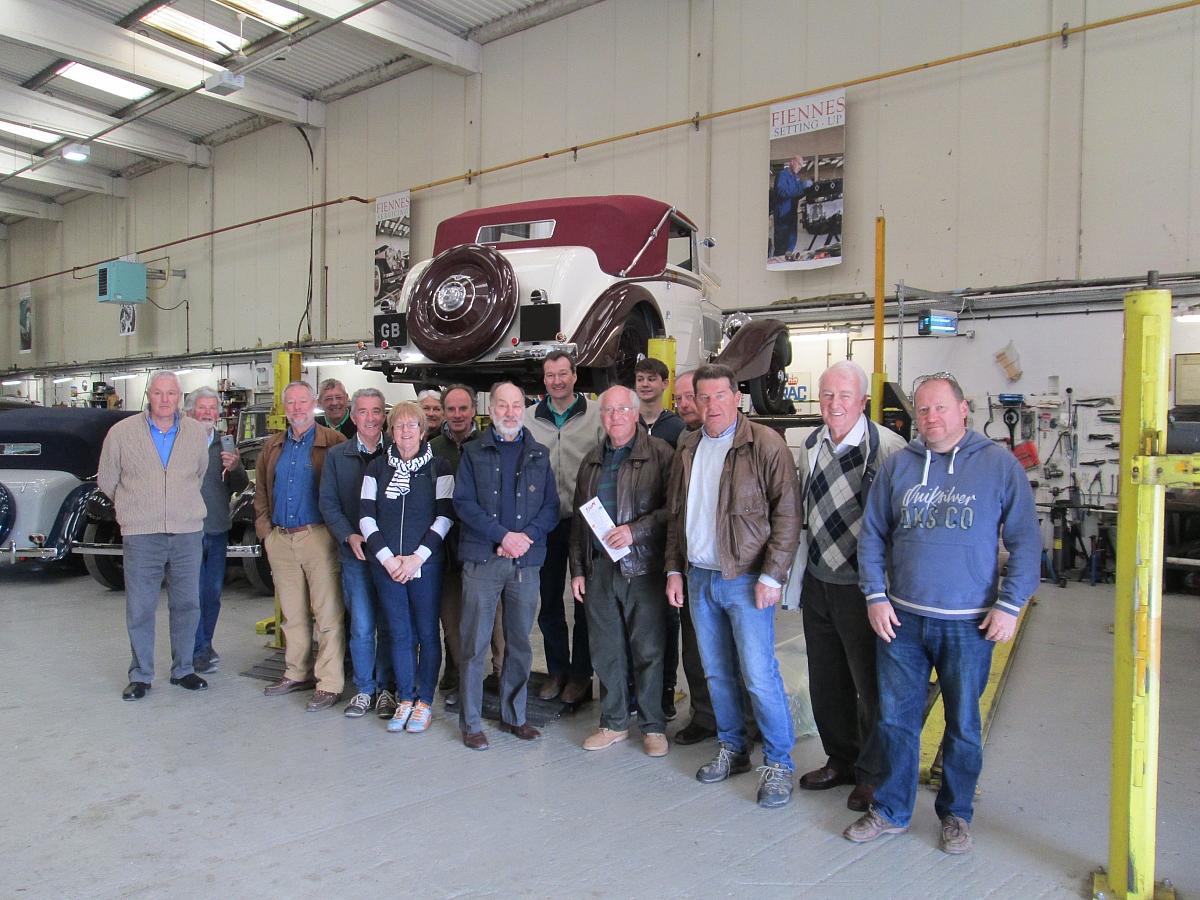 Glavon Drive-it Day Visit to Fiennes Restoration Workshops - 23rd April 2017