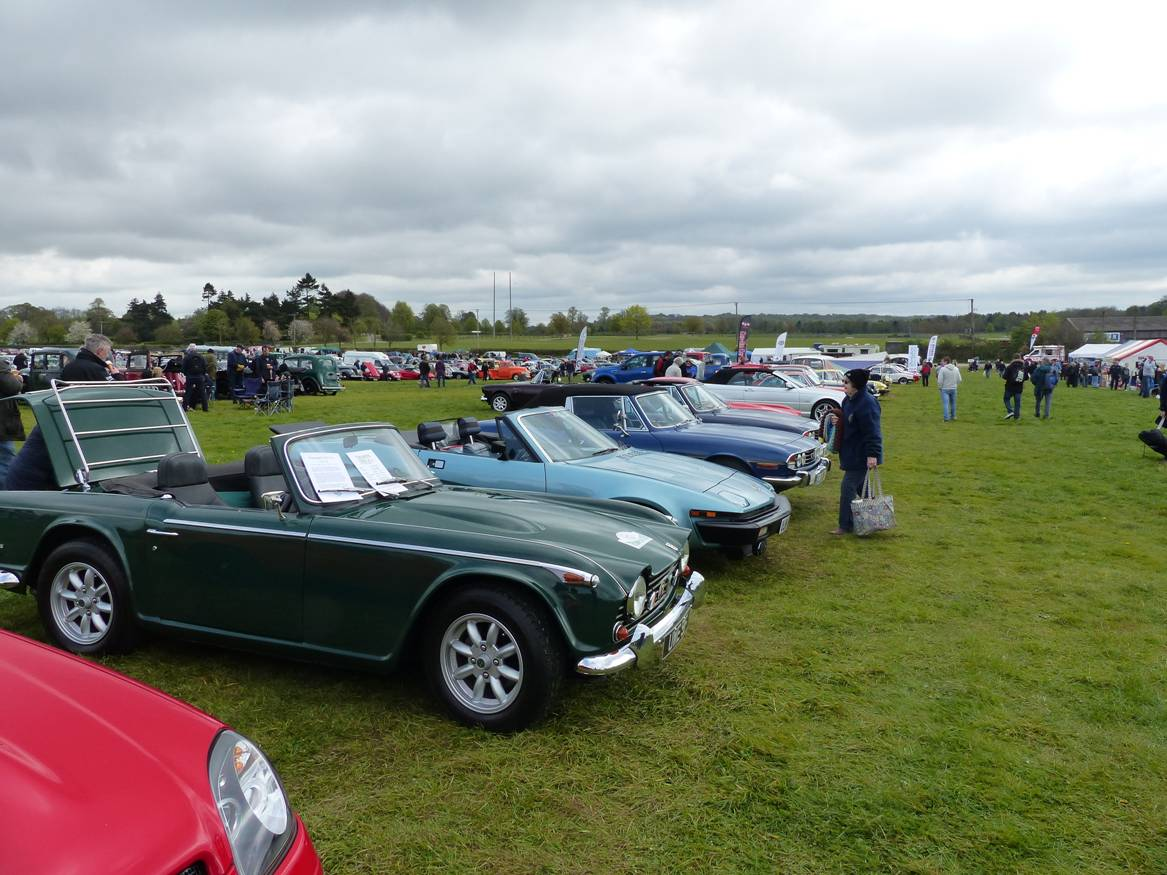 Kennet Valley TR Group enjoy Easter Monday at Spring Vehicle show, Newbury