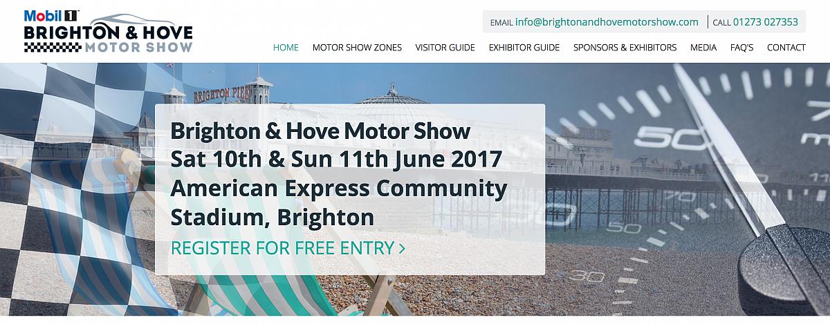 Brighton & Hove Motor Show Sat 10th & Sun 11th June 2017 - Entries closed