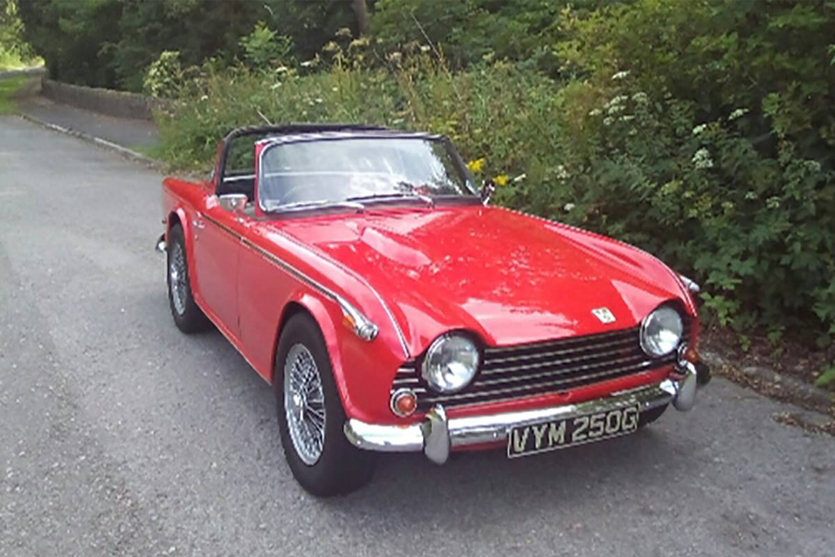 TR5 stolen from garage in Buxton