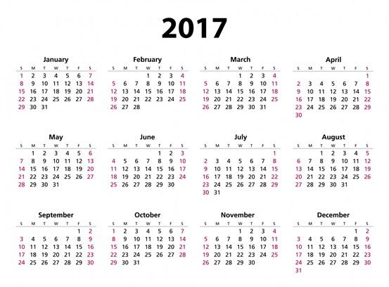 Kennet Valley TR Group  Calendar 2017