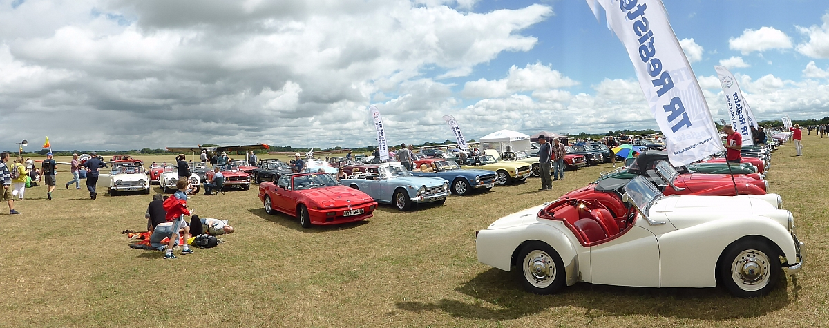 Flywheel Bicester attracts 40 TR Register cars from several Groups