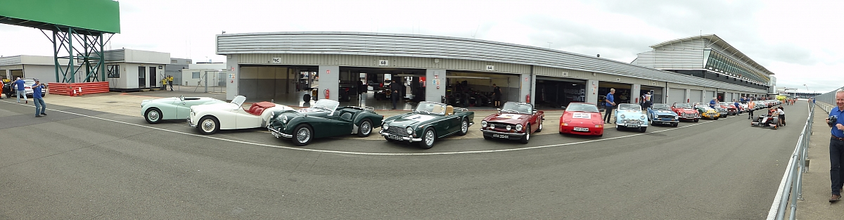 A Triumph of a day, Great honour and a lot of interest in TR's - British Grand Prix 2017