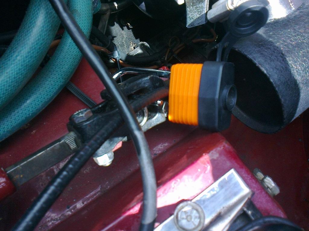 Alan's unusual steering lock