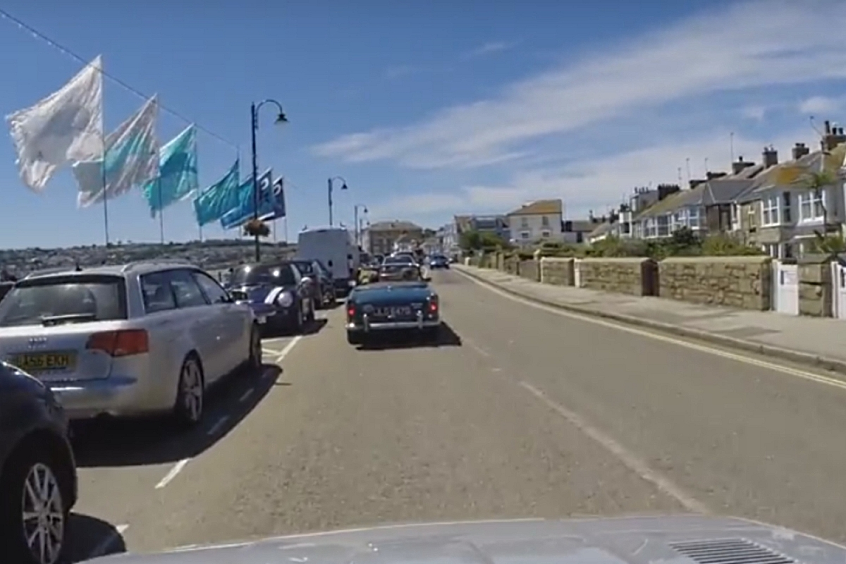 TR5 caught on camera en route to Land's End 6th July 2017