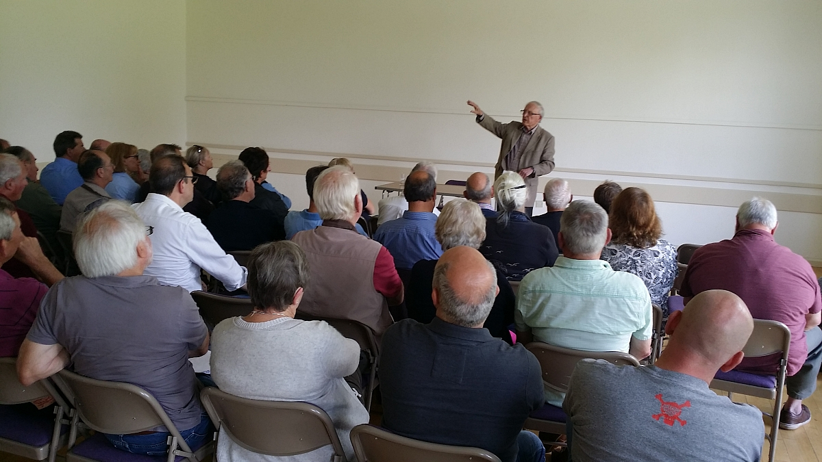 Inter-Group Event supports Stuart Turner Talk in aid of Motorsport Safety at Down Ampney Village Hall.