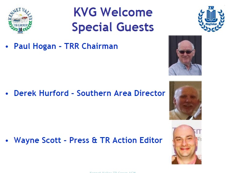 Kennet Valley TR Group welcomes Special Guests to their August Club Night