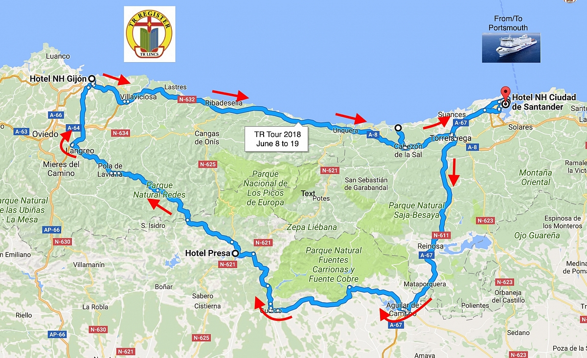 TR Lincs Tour of Northern Spain