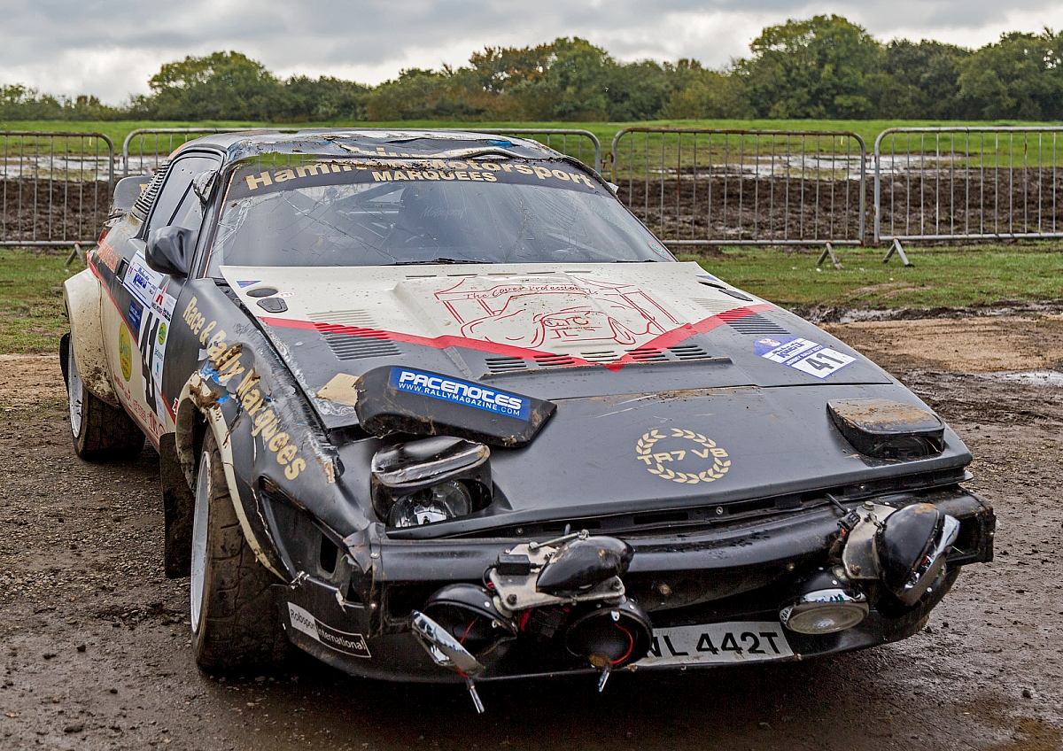 Kennet Valley TR Group member \'Barrel Rolls\' his TR7 V8 Rally car