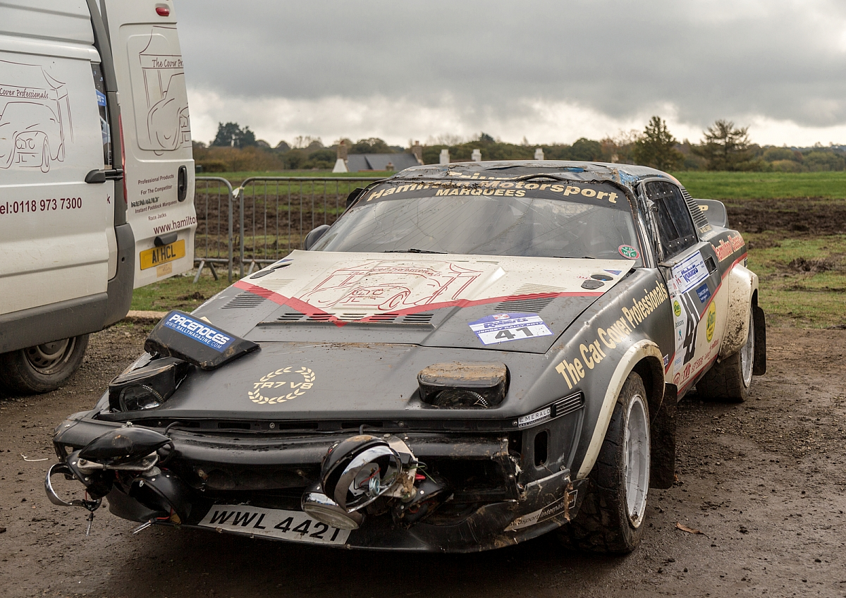 Kennet Valley TR Group member 'Barrel Rolls' his TR7 V8 Rally car