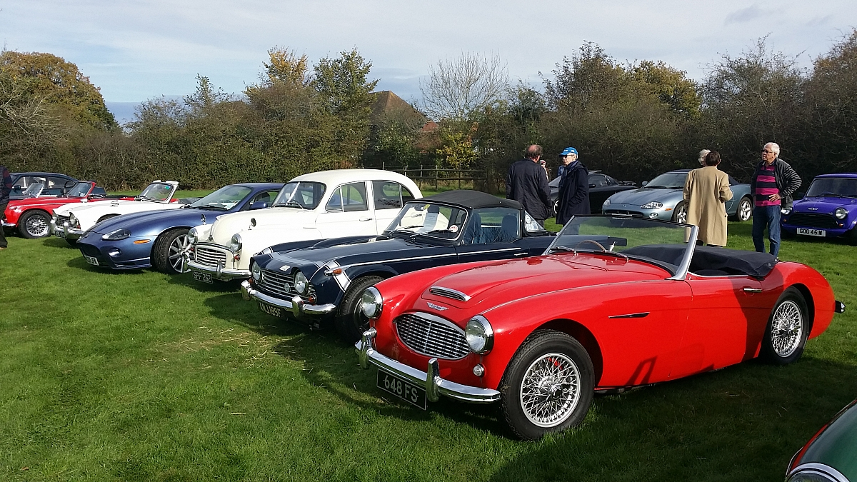 Kennet Valley TR Group enjoy Classic Saturday at The Cottage, Upper Bucklebury.